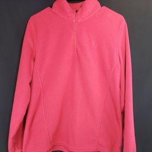 Womens Pink Eddie Bauer Zip Up Fleece Size L